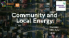 Community and Local Energy: A beacon for 2030