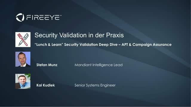 """Lunch & Learn"" Security Validation Deep Dive – APT & Campaign Assurance"
