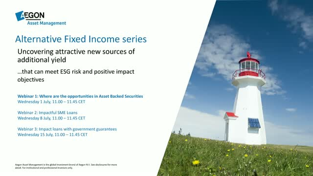 Aegon Asset Management Alternative Fixed Income series - Webinar 1
