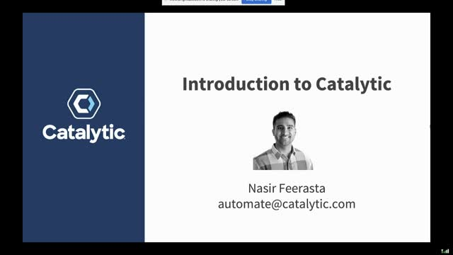 Catalytic live group demo