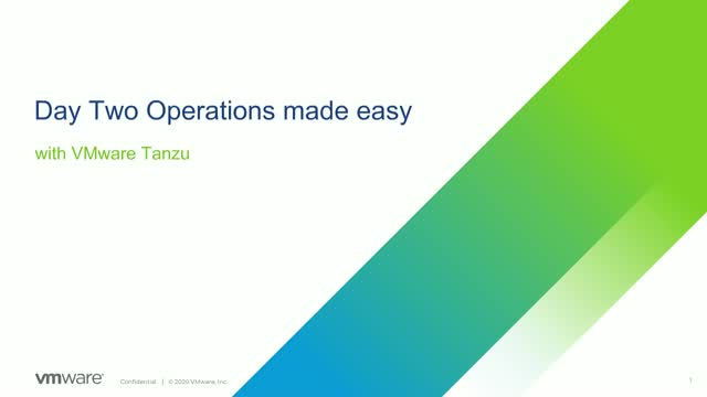 [EMEA] Day Two Operations Made Easy with VMware Tanzu Kubernetes Grid (Part 1)