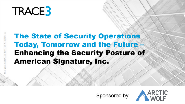 The State of Security Operations Today, Tomorrow and the Future
