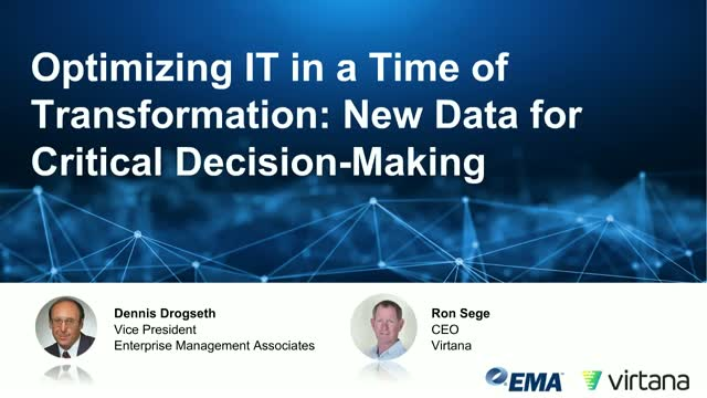 Optimizing IT In a Time of Transformation: New Data for Critical Decision Making