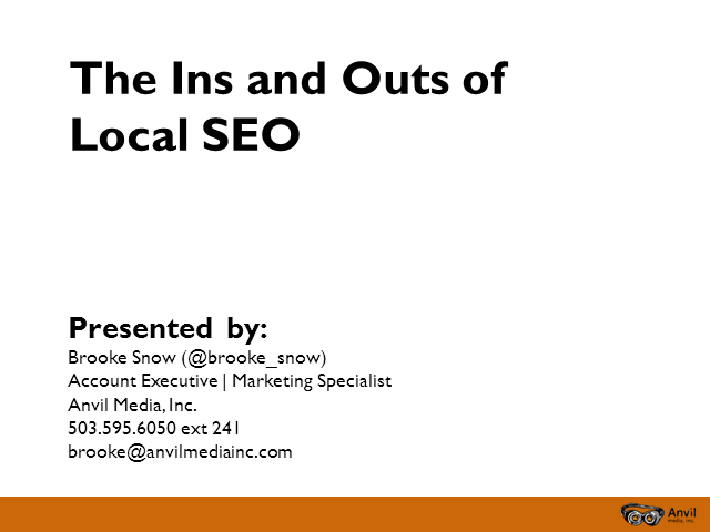 The Ins and Outs of Local SEO