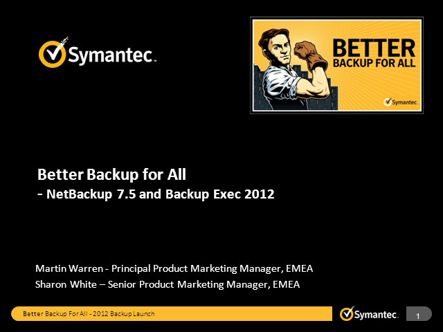 Better Backup for All