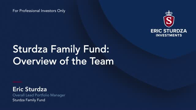 The Sturdza Family Fund: Overview of the Team
