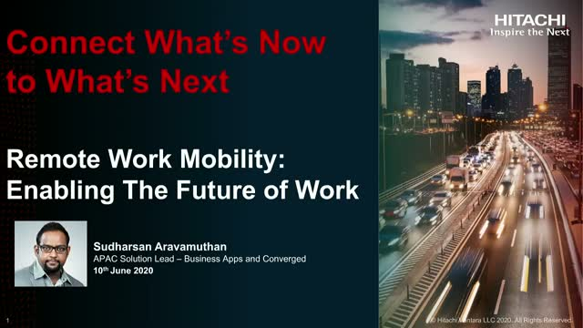 Connect Now to What's Next: Session on Efficient Remote Work Mobility Solutions