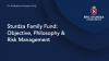 The Sturdza Family Fund: Objective, Philosophy & Risk Management