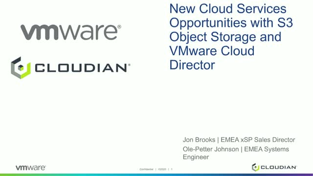 New Cloud Services Opportunities with Cloudian and VMware Cloud Director