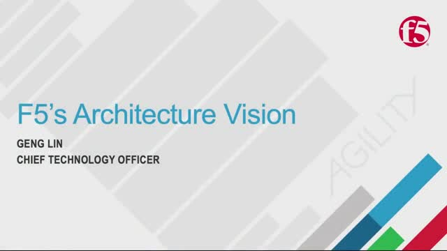 F5's Unified Architecture Vision