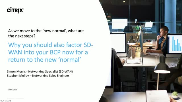 Factor SD-WAN into your BCP now in time for a return to a new 'normal'