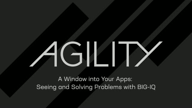 DEMO: A Window into Your Apps: Seeing and Solving Problems with BIG-IQ