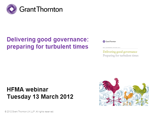 Delivering Good Governance: preparing for turbulent times