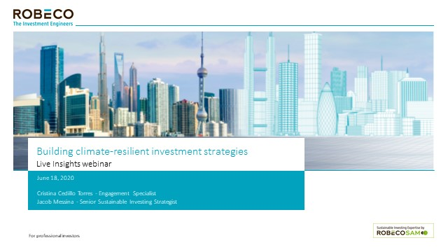 Building climate-resilient investment strategies