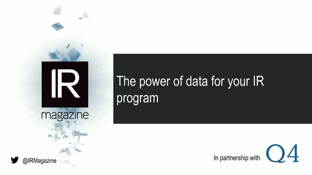 IR Magazine Webinar – The power of data for your IR