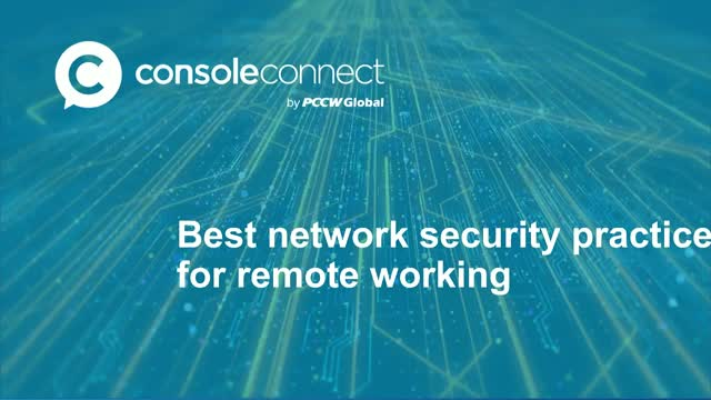Best network security practices for remote working
