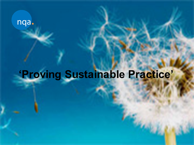 Proving Sustainable Practice