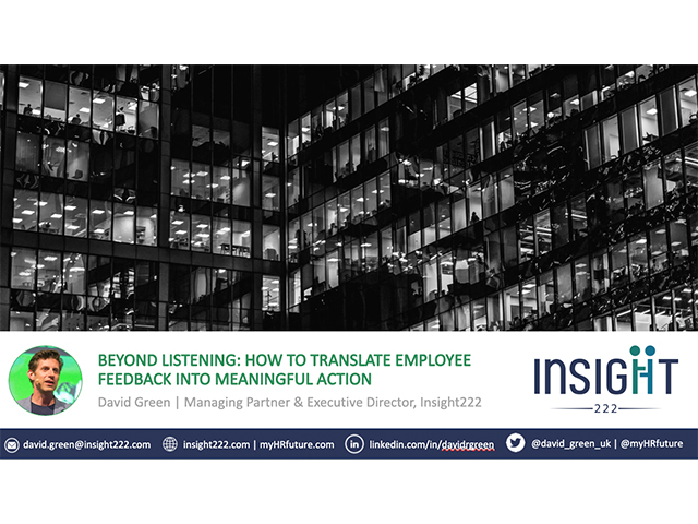 Beyond Listening – How to translate employee feedback into meaningful action
