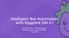 Webinar: Intelligent Test Automation with Eggplant DAI 4.1