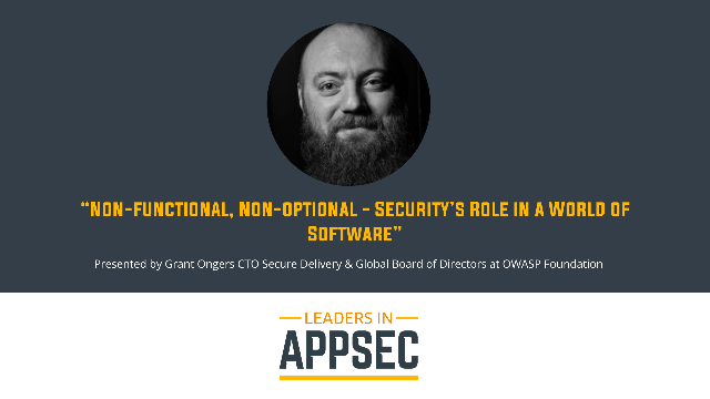 Non-functional, Non-optional - Security's Role in a World of Software