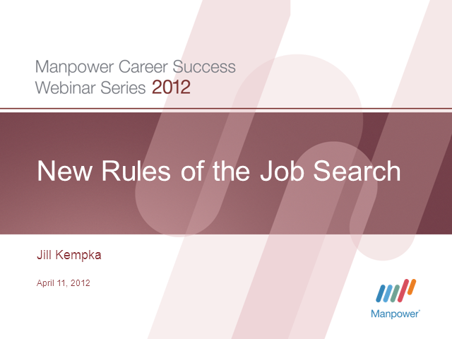 New Rules of the Job Search