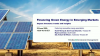 Financing Green Energy in Emerging Markets