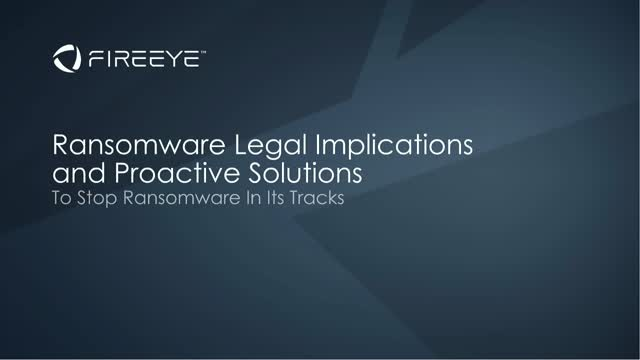 Ransomware Legal Implications and Proactive Solutions