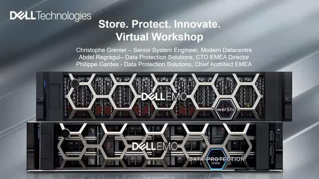 Store. Protect. Innovate. Virtual Workshop