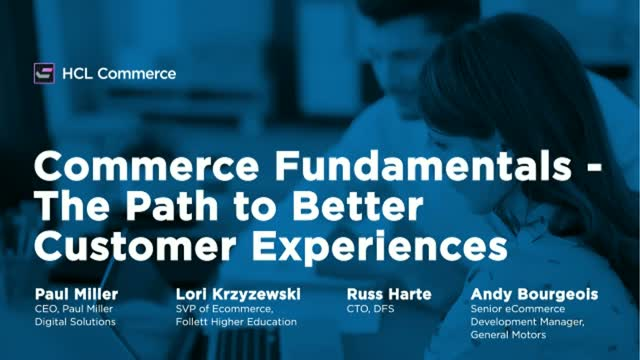 Commerce Fundamentals – The path to better customer experiences