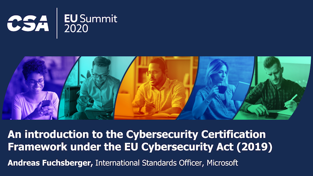 Cybersecurity Certification Framework under the EU Cybersecurity Act (2019)