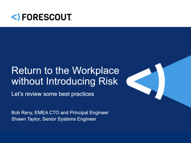 Return to the Workplace without Introducing Risk