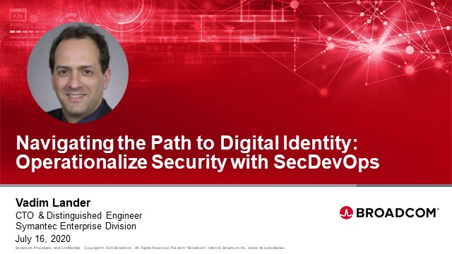 Navigating the Path to Digital Identity: Operationalize Security with SecDevOps