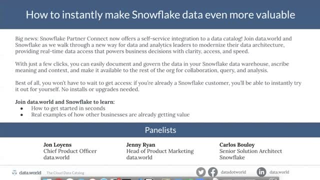 How to Instantly Make Snowflake Data Even More Valuable