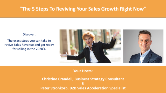 The 5 Steps To Reviving Your Sales Growth Right Now