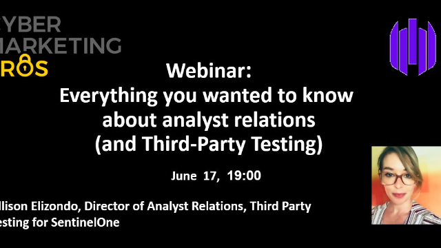 Everything you wanted to know about analyst relations (and Third-Party Testing)