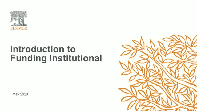Introduction to Funding Institutional