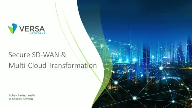 Secure SD-WAN for Multi-Cloud Deployments