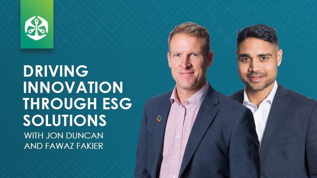 Driving innovation through ESG solutions