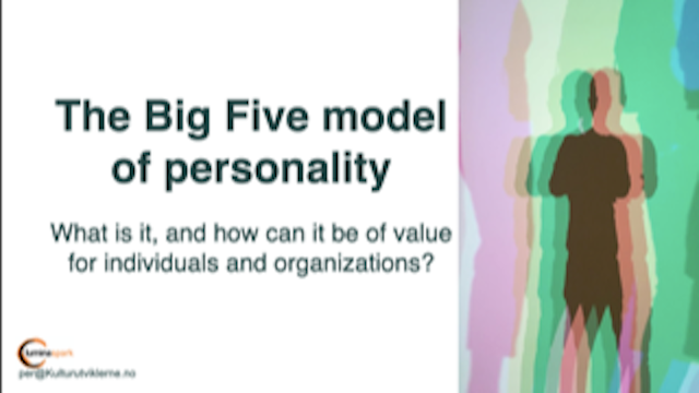 An intro to The Big Five model of personality