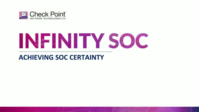 Check Point Introduces Infinity SOC