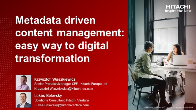 Metadata driven content management - easy way to digital transformation