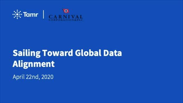 Sailing Toward Global Data Alignment with Carnival Corporation