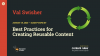 Best Practices for Creating Reusable Content