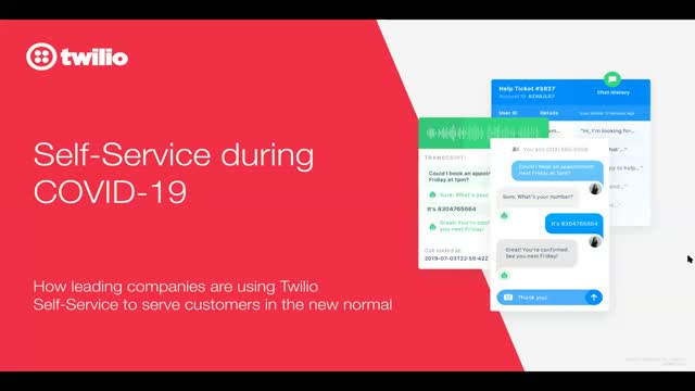 Creating self-service experiences during COVID-19 with IVRs and Chatbots
