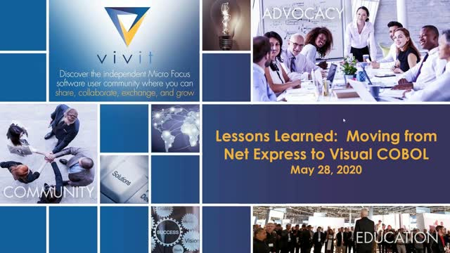 Lessons Learned: Moving from Net Express to Visual COBOL