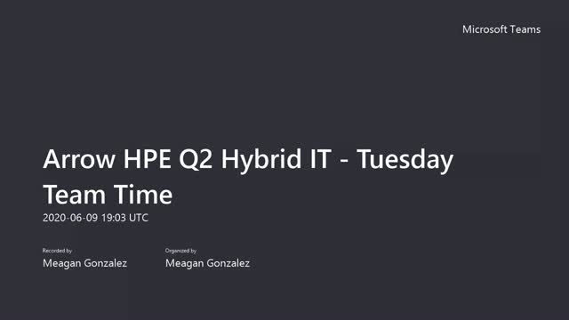 HPE Tea Talk Series #2