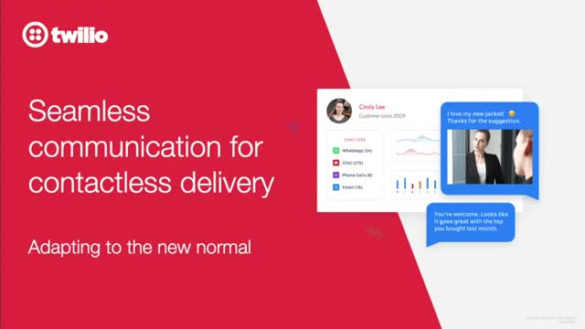 Seamless communications for contactless deliveries