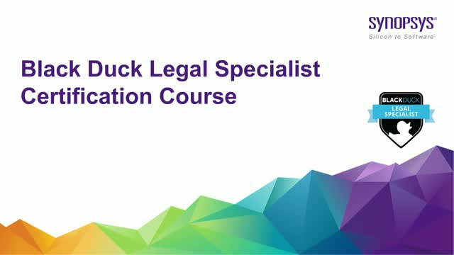 Black Duck Legal Specialist Certification Course
