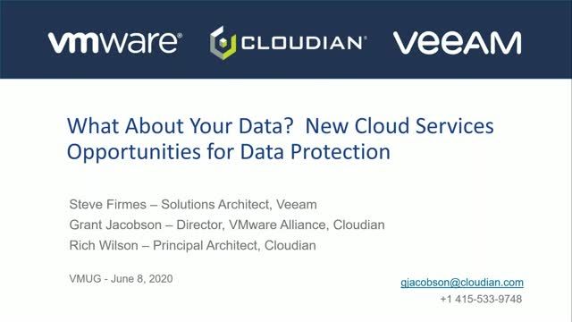 What About Your Data? New Cloud Services Opportunities for Data Protection