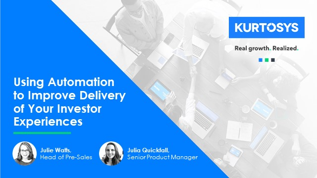 Using Automation to Improve Delivery of Your Investor Experiences